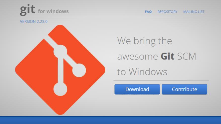 Git For Windowsのインストール手順