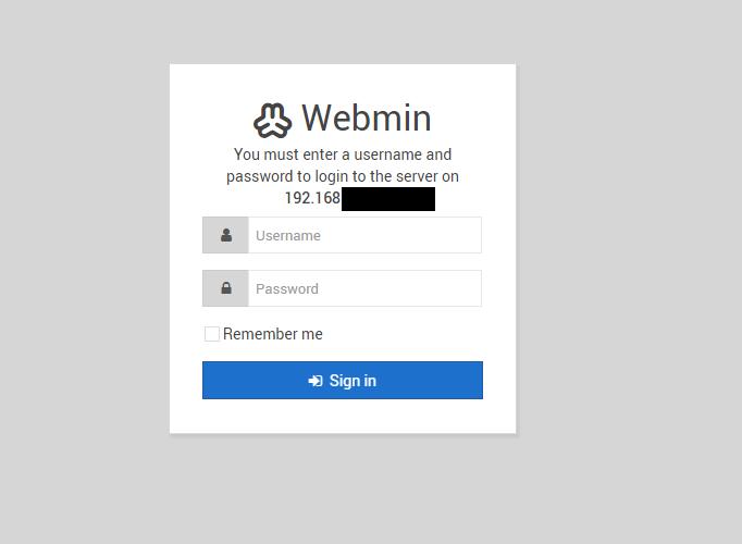 WebminへのアクセスIP制限(アクセス制御)をかける