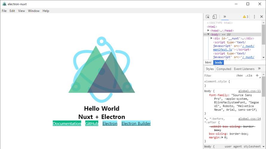 windows10 Electron-Nuxt.jsをインストールする