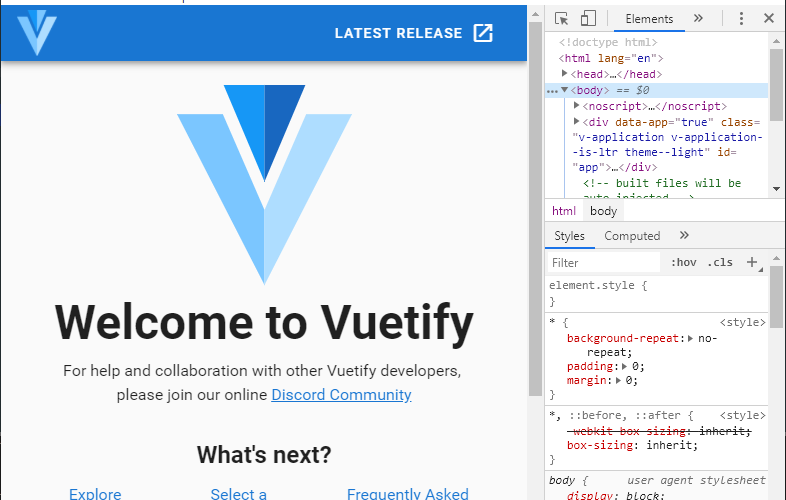 VueCLIからelectron-vue.jsをインストールしてVuetifyを利用する
