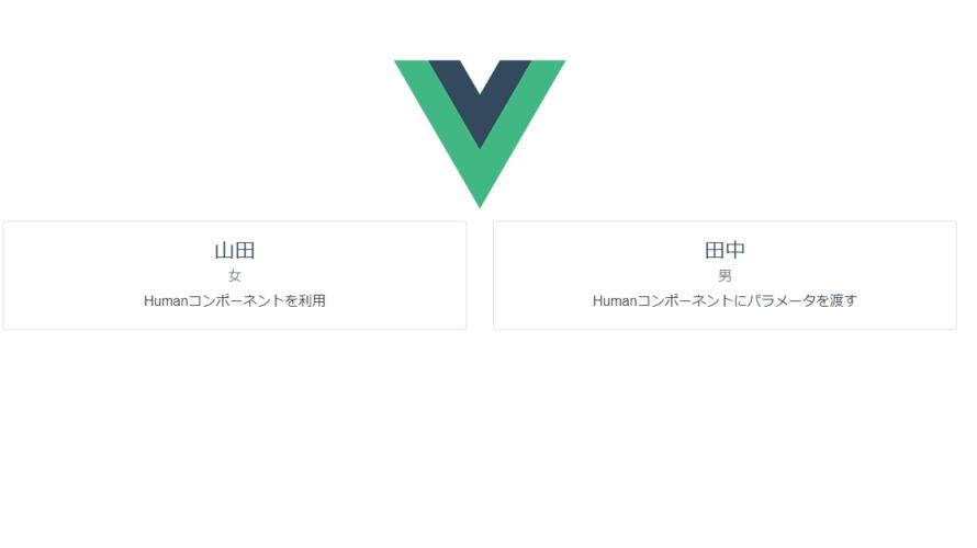 Vue.js propsを利用して親コンポーネントから子コンポーネントでパラメーターを渡す