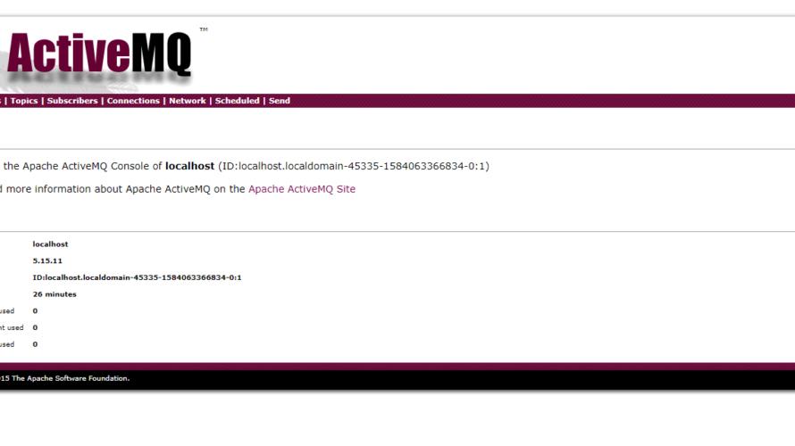CentOs8 Apache ActiveMQをインストールする