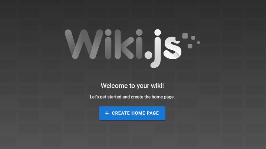 Dockerを使ってwikiが作成できるOSS「wiki.js」をインストールする