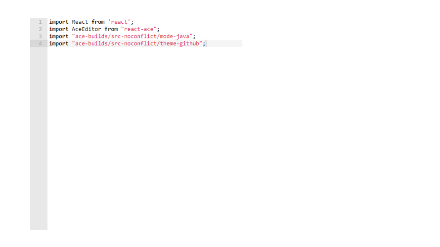 React.js ライブラリ「react-ace」を使用してシンタックスハイライトを実装する