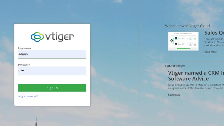 Dockerを使ってOSSのCRM(顧客管理)「vtiger」を構築する