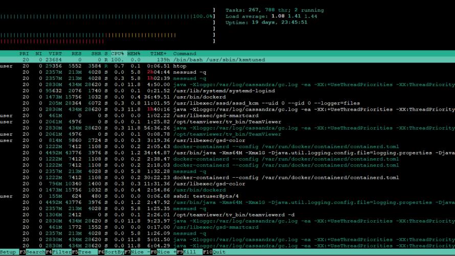 CentOS 8にシステム監視ツール「htop」をインストールする