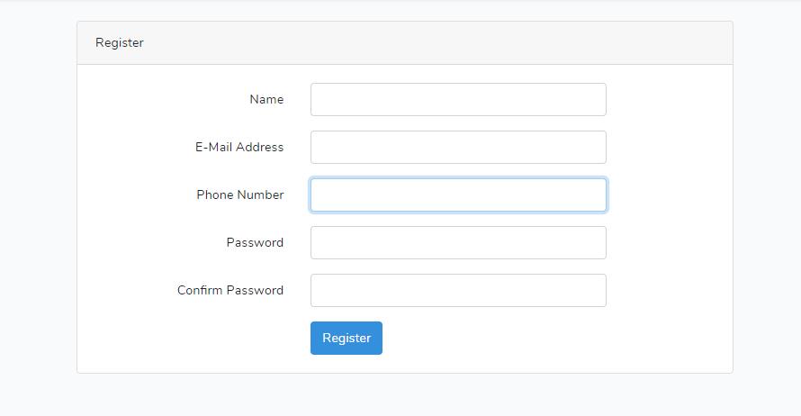 Laravel 7 ユーザー登録時の項目を追加する