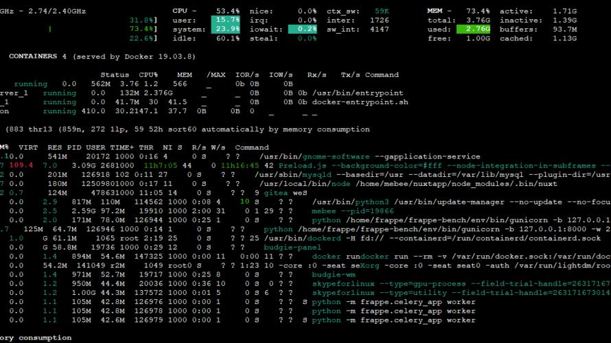 Ubuntu20.04 「Glances」を利用してCPUの温度を確認する