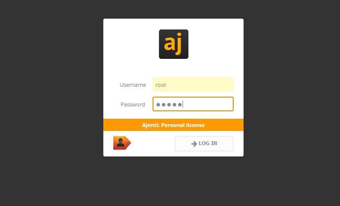 CentOs7 サーバー管理ツール「ajenti」をインストールする手順