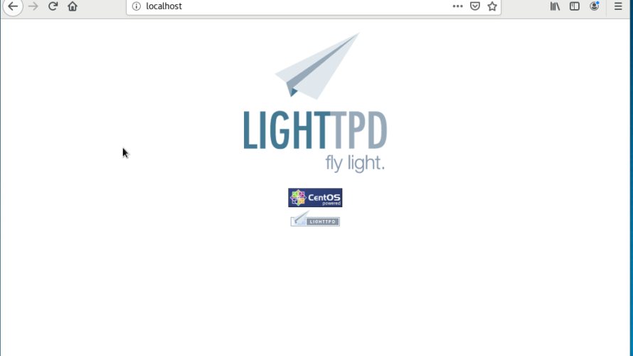 CentOS7 lighttpdをインストールする手順