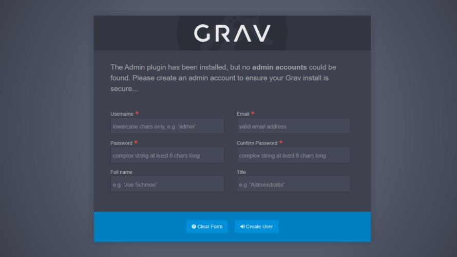 dockerを使ってGravCMSを構築する手順
