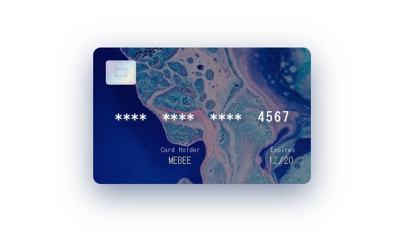Nuxt.js ライブラリ「vue-paycard」を使用してクレジットカードを表示する