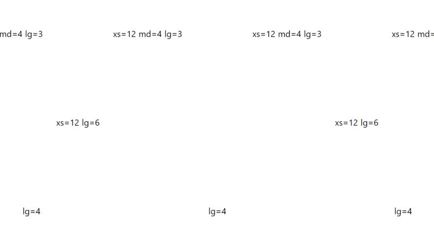 Nuxt.js ライブラリ「vue-grid-responsive」をインストールしてグリッドシステムを実装する
