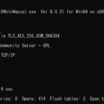 windows10 mysqlのバージョンを確認する