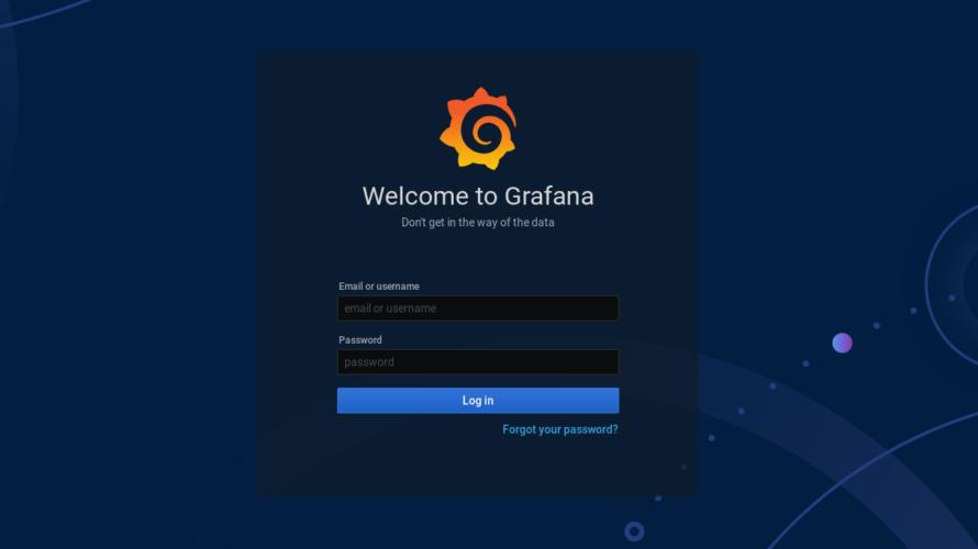 docker composeを使って「grafana」を構築する