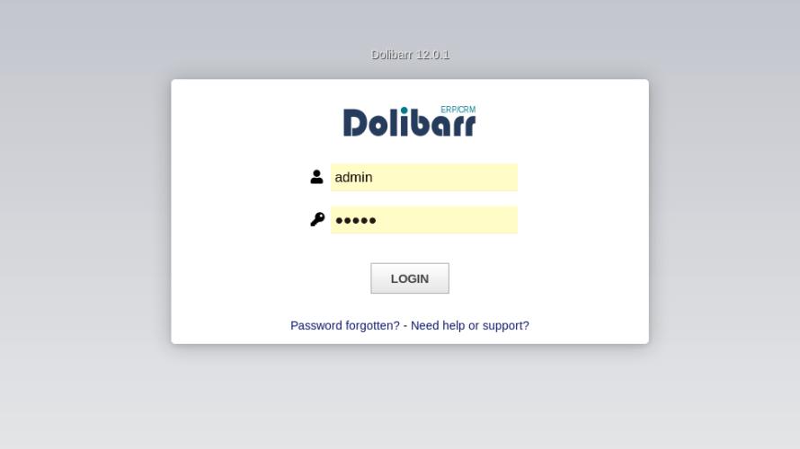 docker composeを使ってDolibarrを構築するまでの手順