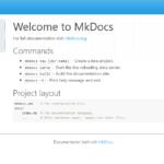 python製のMkDocsを使ってMarkdownでドキュメントを作成する