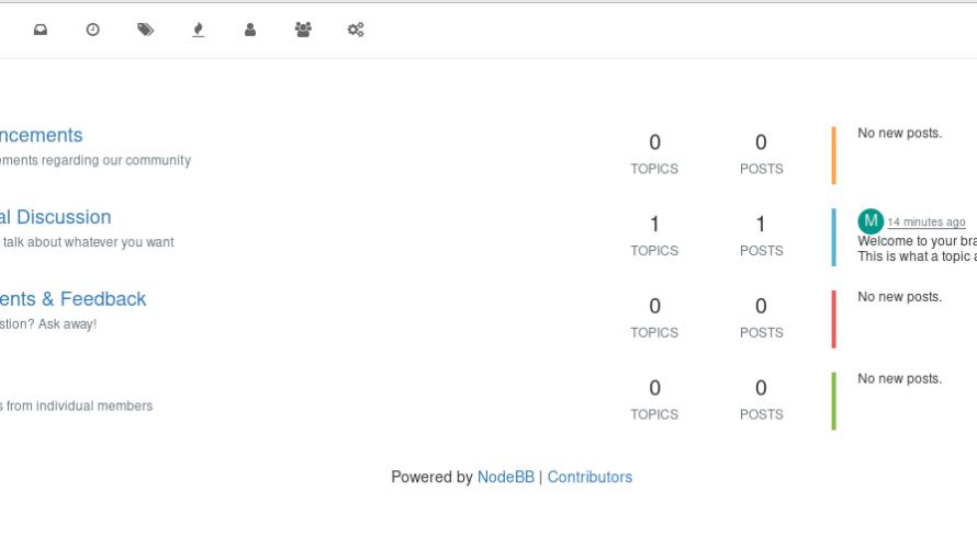 docker composeを使って「nodeBB」を構築するまでの手順