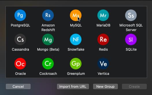 mac TablePlusを使用する
