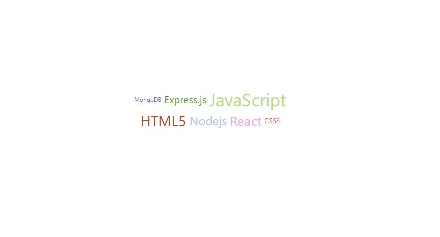 React.js ライブラリ「react-tagcloud」を使ってcloudtagを作成する